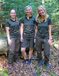 Bei der Nationalparkwacht gibt es drei neue Rangerinnen. Kristin Biebl, Martina Buchna und Alena Lettenmaier